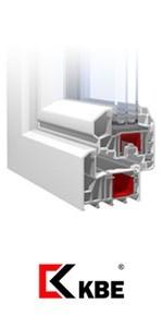 Окна ПВХ из профиля KBE в разрезе