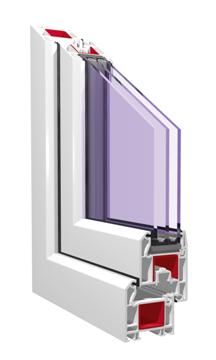 окна пвх kbe в разрезе